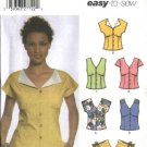 Simplicity Sewing Pattern 5059 Misses Size 4-10 Easy Sleeveless  Button Front Tops Blouse Shirt