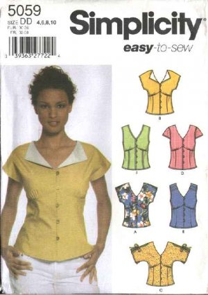 FRONT BUTTON SCRUB TOPS PATTERN « Browse Patterns