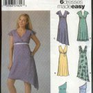 Simplicity Sewing Pattern 5091 Misses Size 6-8-10-12 Summer Empire Waist Pullover Dresses