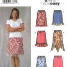 Simplicity Sewing Pattern 5100 Misses Size 6-12 Easy Pull-on Skirts Hem Ruffle Asymmetrical Hemline