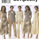 Simplicity Sewing Pattern 5104 Misses Size 10-18 Wardrobe Jacket Skirt Pants Top