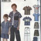 Simplicity Sewing Pattern 5125 Boys Size 3-6 Wardrobe Shirt Knit T-shirt Pants Shorts Backpack
