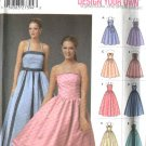 Simplicity Sewing Pattern 5185 Misses Size 4-10 Formal Evening Dress Prom Gown Halter Strapless