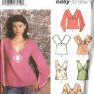 Simplicity Sewing Pattern 5195 Misses Size 6-8-10-12 Easy Sleeveless Long Sleeve Tops