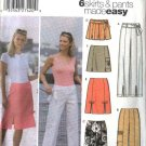 Simplicity Sewing Pattern 5202 Misses Size 14-20 Easy A-Line Skirt Cropped Pants Shorts Belt