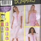 Simplicity Sewing Pattern 5205 Junior Size 7/8-15/16 Cropped Pants Shorts Camisole Top Pajamas