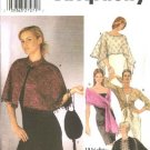 Simplicity Sewing Pattern 5252 Misses Size 18-24 Formal Evening Wraps Cape Shawl Shrug Purse Bag
