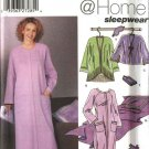Simplicity Sewing Pattern 5264 Misses Size 18-24 Robe Jacket Slippers Blanket Eyemask Book Cover