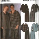 "Simplicity Sewing Pattern 5268 Misses Mens Size Chest 30 - 40"" Easy Pajamas Pants Shorts Nightshirt"