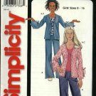 Simplicity Sewing Pattern 5277 Girls' Size 8-16 Easy Knit Top Jacket Pants
