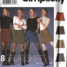 Simplicity Sewing Pattern 5304 Misses Size 4-6-8-10 A-line Flared  Mini-skirts Trim Variations