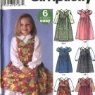 Simplicity Sewing Pattern 5319 Girls Size 3-6 Easy Pinafore Petticoat Jumper Blouse