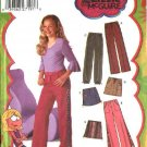 Simplicity Sewing Pattern 5322 Girls Plus Size  8 ½ - 16 ½  Pants Skirt Trim Variations