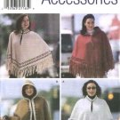 Simplicity Sewing Pattern 5330 Misses Size 10-20  Fleece Fringe Hooded Capes Ponchos
