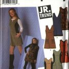 Simplicity Sewing Pattern 5336 Junior Size 7/8-15/16 Mini Jumper Trim Variations