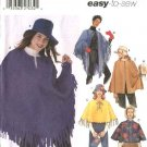 Simplicity Sewing Pattern 5349 Misses Size 6-16 Easy Ponchos Capes Capelets Hats Mittens Purse