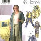 Simplicity Sewing Pattern 5361 Misses Size 4-20 Wardrobe Robe Pants Knit Tank Top Blanket