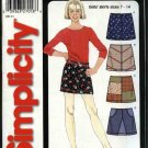 Simplicity Sewing Pattern 5371 Girls Size 7-14 Easy A-Line Mini-Skirts Trim Variations