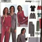 """Simplicity Sewing Pattern 5473 Mens Chest Size 30-48"""" Misses Size 8-18 Pajamas Top Pants Blanket"""