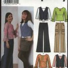 Simplicity Sewing Pattern 5487 Girls Plus Size 8 ½ - 16 ½ Wardrobe Top Pants Vest Mini-Skirt