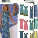 Simplicity Sewing Pattern 5496 Misses Size 6-12 Easy Summer Short Long Dresses Sundress