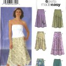 Simplicity Sewing Pattern 5503 Misses Size 16-24 Easy Skirts Fitted Bias Handkerchief Hemline Skirts