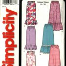Simplicity Sewing Pattern 5511 Misses Size 8-18 Easy Pull-on Skirts Hemline Ruffles