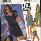 Simplicity Sewing Pattern 5518 Junior size 17/18-23/24 Easy Pants Shorts Jacket Dress Knit Top Tote