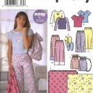 Simplicity Sewing Pattern 5522 Girls Plus Size 8½-16½ Pajamas Pants Knit Top Bag Slippers Blanket