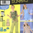 Simplicity Sewing Pattern 5577 Girls Size 7-8-10 Easy Wardrobe Dress Top Pants Shorts Hat