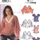 Simplicity Sewing Pattern 5595 Misses Size 4-10 Easy Summer Pullover Tops Tunics Raised Waist