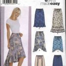 Simplicity Sewing Pattern 5597 Misses Size 4-10 Easy Pull On Long Short Skirts Hemline Ruffles