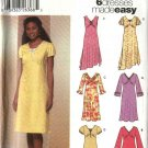 Simplicity Sewing Pattern 5681  Missees Size 6-12 Easy Pullover Bias Long Sleeved Sleeveless Dress