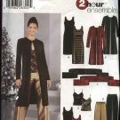 Simplicity Sewing Pattern 5746 Misses Size 4-10 Formal Wardrobe Dress Tunic Camisole Pants Duster
