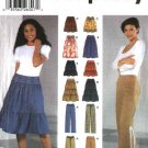 Simplicity Sewing Pattern 5752 Misses Size 4-10 Full Gathered Tiered Peasant Skirts Fitted Pants