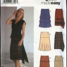 Simplicity Sewing Pattern 5761 Misses size 6-12 Easy Straight Flared Ruffled Tiered Yoke Skirts