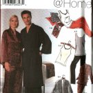 Simplicity Sewing Pattern 5763 Misses Mens Size XXS-S Robe Pajamas Pants Knit Tank Top Slippers