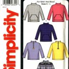 Simplicity Sewing Pattern 5768 Boys Girls 6-12 Easy Pullover Long Sleeved Fleece Top
