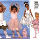 Butterick Sewing Pattern 6660 5545 Girls Size 6-8 Easy Dance Leotard Tutu Skirt Bag Ponytail Holder