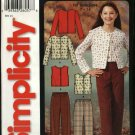 Simplicity Sewing Pattern 5869 Girls Size 7-14 Easy Pants Knit Tops Jacket Vest