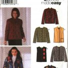Simplicity Sewing Pattern 5907 Misses Size 18-24 Easy Long Sleeve Button Front Jacket Vest