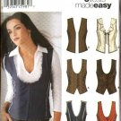 Simplicity Sewing Pattern 5910 Misses Size 12-20 Easy Lined Front Button Tie Hook Eye Closure Vests