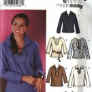 Simplicity Sewing Pattern 5911 Misses Size 6-12 Easy Long Sleeve Pullover Tops