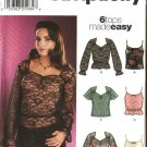 Simplicity Sewing Pattern 5912 Misses Size 6-12 Easy Pullover Blouse Knit Camisole Tops