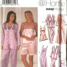 Simplicity Sewing Pattern 5933 Misses Size 4-12 Easy Robe Nightgown Pants Camisole Pajamas