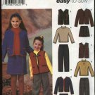 Simplicity Sewing Pattern 5942 Girls Size 3-6 Easy Wardrobe Knit Top Vest Skirt Pants Jacket