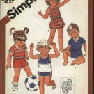 Retro Simplicity Sewing Pattern 5953 Boys Girls Size 3 Hang Ten Shorts Tops Romper