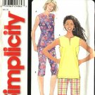 Simplicity Sewing Pattern 5996 Misses Size 10-20 Easy Pullover Sleeveless Top Cropped Pants