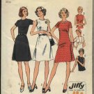 Retro Simplicity Sewing Pattern 6080 Misses Size 12 Jiffy Fitted A-Line Dress
