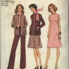 Simplicity Sewing Pattern 6614 Women's Size 10 ½ - 12 ½  Vintage A-Line Dress Pants Cardigan